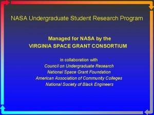 NASA Undergraduate Student Research Program Managed for NASA