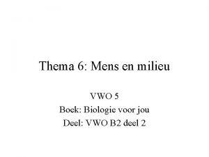 Thema 6 Mens en milieu VWO 5 Boek