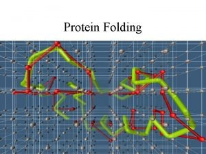 Protein Folding PROTEIN FOLDING Process in which a