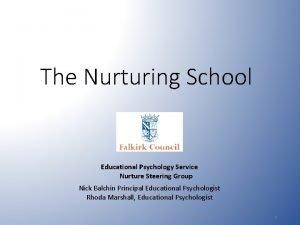 The Nurturing School Educational Psychology Service Nurture Steering