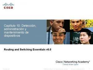 Captulo 10 Deteccin administracin y mantenimiento de dispositivos