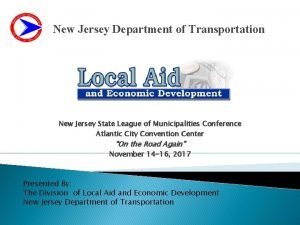 New Jersey Department of Transportation New Jersey State
