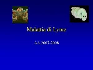 Malattia di Lyme AA 2007 2008 Malattia di