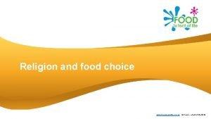 Religion and food choice www foodafactoflife org uk