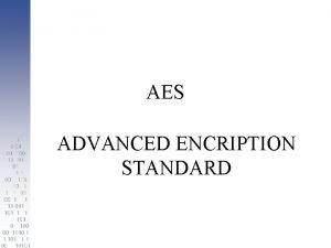 AES ADVANCED ENCRIPTION STANDARD AES Estndar adoptado por