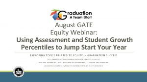 August GATE Equity Webinar Using Assessment and Student