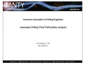 American Association of Drilling Engineers Automation Drilling Fluid