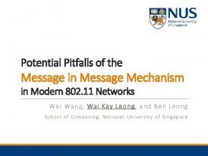 Potential Pitfalls of the Message in Message Mechanism