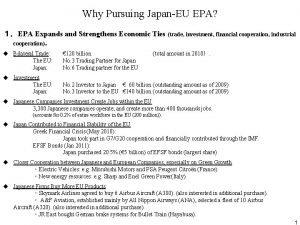 Why Pursuing JapanEU EPA EPA Expands and Strengthens