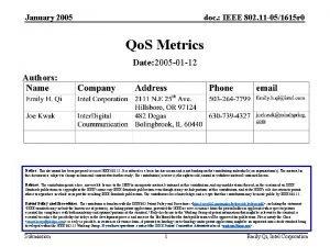 January 2005 doc IEEE 802 11 051615 r