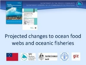 Projected changes to ocean food webs and oceanic