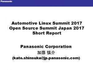 Automotive Linux Summit 2017 Open Source Summit Japan
