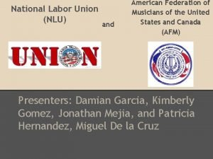 National Labor Union NLU and American Federation of