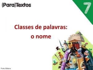 Classes de palavras o nome Porto Editora O