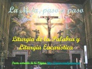 La Misa paso a paso Liturgia de la