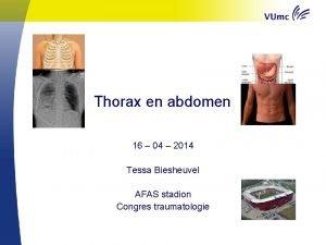 Thorax en abdomen 16 04 2014 Tessa Biesheuvel
