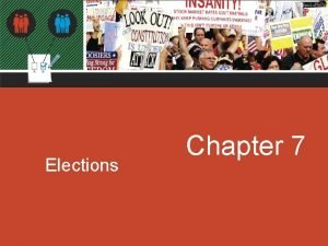 Elections Chapter 7 Chapter 7 Elections American Elections
