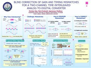 BLIND CORRECTION OF GAIN AND TIMING MISMATCHES FOR