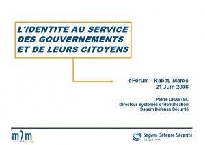 LIDENTITE AU SERVICE DES GOUVERNEMENTS ET DE LEURS