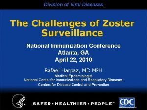 Division of Viral Diseases The Challenges of Zoster