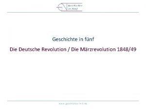 Geschichte in fnf Die Deutsche Revolution Die Mrzrevolution
