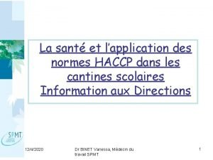 La sant et lapplication des normes HACCP dans