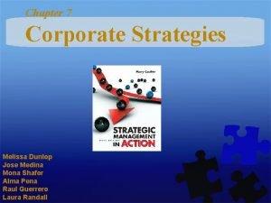 Chapter 7 Corporate Strategies Melissa Dunlop Jose Medina