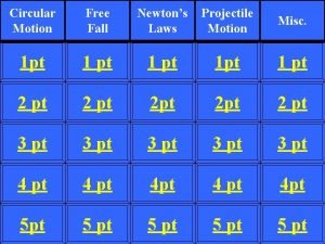 Circular Motion Free Fall Newtons Laws Projectile Motion