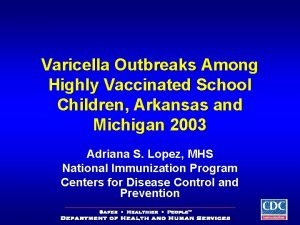 Varicella Outbreaks Among Highly Vaccinated School Children Arkansas