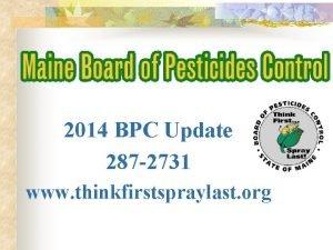 2014 BPC Update 287 2731 www thinkfirstspraylast org