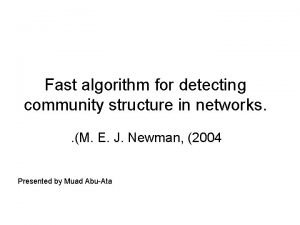 Fast algorithm for detecting community structure in networks