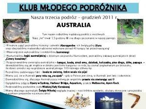 KLUB MODEGO PODRNIKA Nasza trzecia podr grudzie 2011