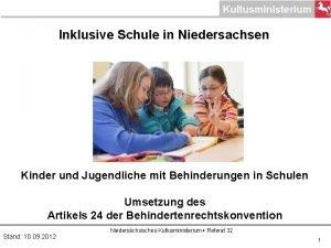 Inklusive Schule in Niedersachsen Kinder und Jugendliche mit