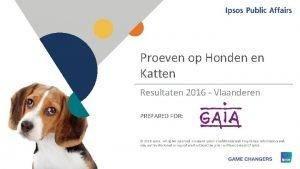 Proeven op Honden en Katten Resultaten 2016 Vlaanderen