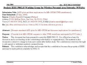 July 2004 doc IEEE 802 15 040326 r