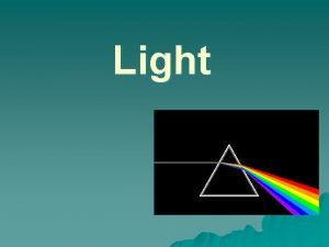 Light Properties of Light u Light Laser travels