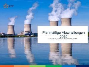 Planmige Abschaltungen 2019 CLISitzung vom 7 November 2019