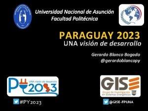 Universidad Nacional de Asuncin Facultad Politcnica PARAGUAY 2023
