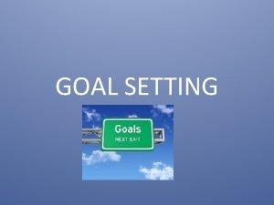 GOAL SETTING Setting Goals for Teens Do You