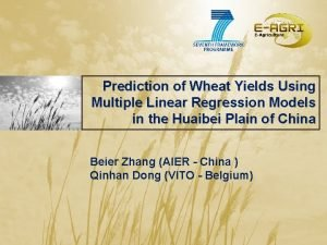 Prediction of Wheat Yields Using Multiple Linear Regression