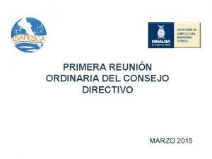 PRIMERA REUNIN ORDINARIA DEL CONSEJO DIRECTIVO MARZO 2015