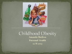 Childhood Obesity Amanda Shelton Personal Health 1282013 Childhood