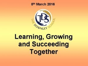 8 th March 2016 Learning Growing and Succeeding
