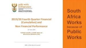 201920 Fourth Quarter Financial Cumulative and Non Financial