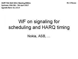3 GPP TSG RAN WG 1 Meeting 88