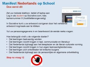 Manifest Nederlands op School Doe eerst dit Zet