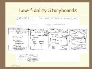 Lowfidelity Storyboards 2132002 1 Lowfi Storyboards 4 Where