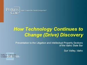 How Technology Continues to Change Drive Discovery Presentation