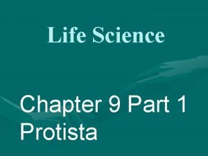 Life Science Chapter 9 Part 1 Protista Protista