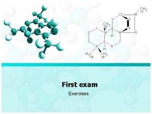 First exam Exercises First Exam Exercises 1 Prefixes